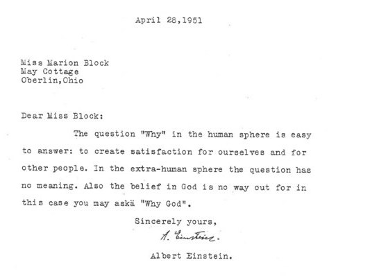 einstein on meaning of life