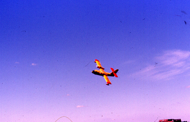 Canadair CL-215 water bomber. Bobolink Flickr